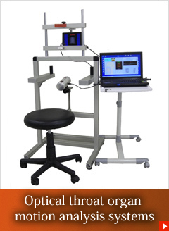 Optical throat organ motion analysis systems