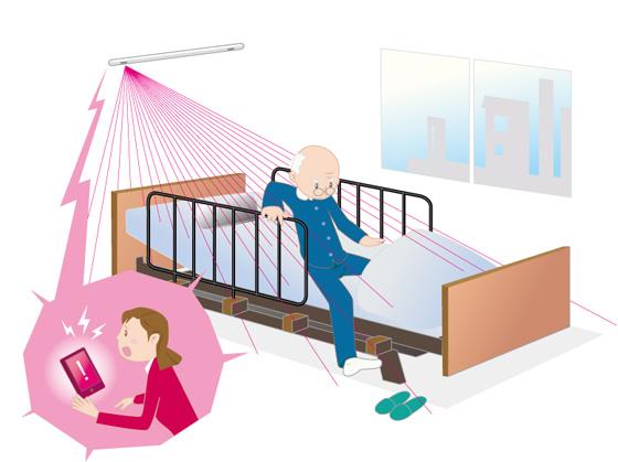 認知症患者用ベッド見守り装置